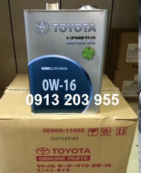 Dầu động cơ cho xe ô tô TOYOTA 0W-16