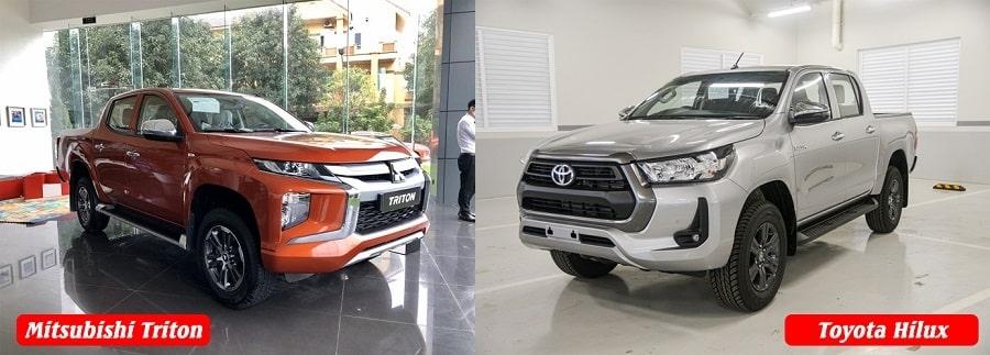 Toyota Hilux và Mitsubishi Triton bản 1 cầu tự động-min