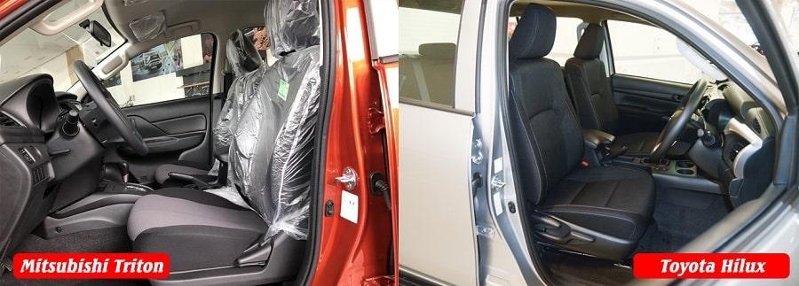 Toyota Hilux và Mitsubishi Triton chọn xe bán tải nào