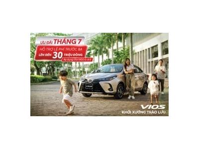 Toyota Việt Nam cùng hệ thống đại lý triển khai chương trình ưu đãi lên đến 30 triệu đồng cho Vios