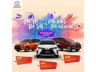 Toyota Việt Nam tung ưu đãi khủng cho khách hàng mua xe Vios và Wigo