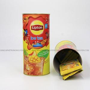 Hộp Quà Ống Trà Lipton Tan icetea Vị Chanh Và Đào 16 Gói