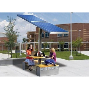 Trạm sạc thiết bị di động bằng năng lượng mặt trời 100 wat có mái che