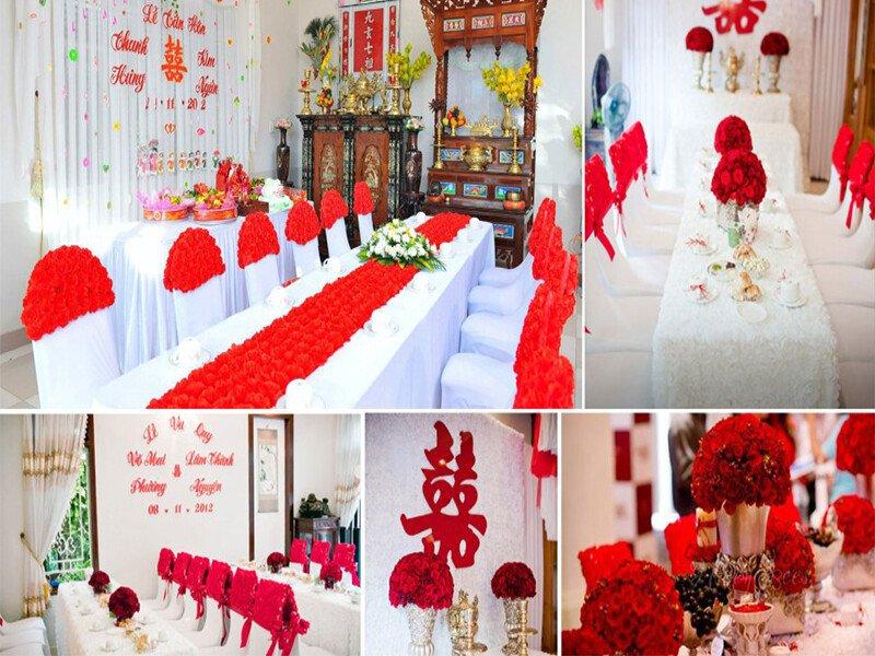 Dịch vụ trang trí tiệc cưới – trang trí bàn thờ gia tiên giá rẻ tại Quận 3, TP.HCM