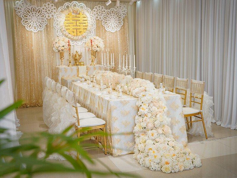 Dịch vụ trang trí tiệc cưới – trang trí bàn thờ gia tiên giá rẻ tại Quận 6