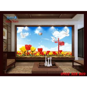 TRANH 3D HOA TULIP HTL153
