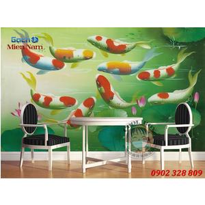 Tranh 3d Mẫu Cá Koi đẹp CKM107