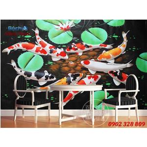 Tranh 3d Mẫu Cá Koi đẹp CKM165