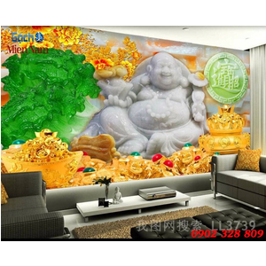 Tranh 3d Phật Di Lặc PDL64
