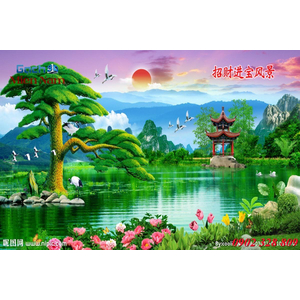 Tranh 3d Phong cảnh PCM333