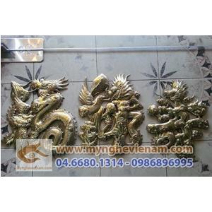 Tranh chữ đồng, sản xuất tranh đồng phù điêu đồng