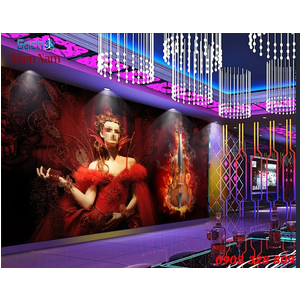 Tranh dán tường phòng Karaoke KOK75