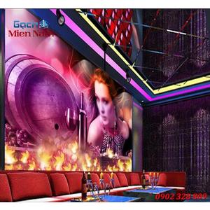 Tranh dán tường phòng Karaoke KOK85