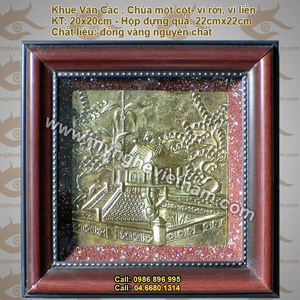 Tranh đồng chùa một cột hà nội – tranh chạm đồng thủ công