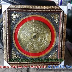 Tranh đồng mặt trống đồng gò 80x80cm