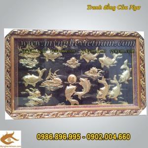 Tranh đồng quà tặng, tranh cảnh trang trí phong thủy