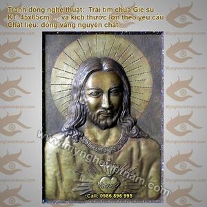 Tranh Đồng, Tranh chúa Jesus, trái tim chúa Giê Su, Chân Dung Chúa Giê Su