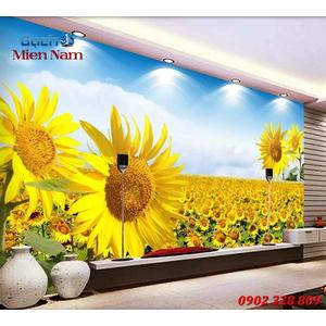 Tranh gạch 3d Hoa Hướng Dương HHD35
