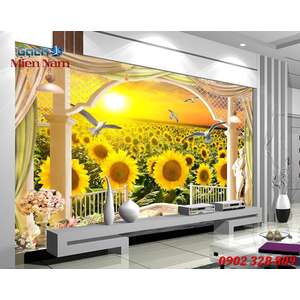 Tranh gạch 3d Hoa Hướng Dương HHD37