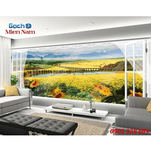 Tranh gạch 3d Hoa Hướng Dương HHD41