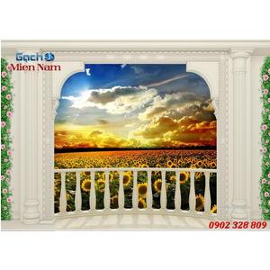 Tranh gạch 3d Hoa Hướng Dương HHD47