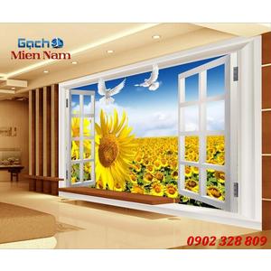 Tranh gạch 3d Hoa Hướng Dương HHD50