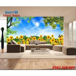 Tranh gạch 3d Hoa Hướng Dương HHD51