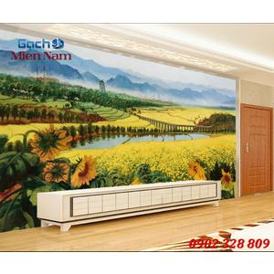 Tranh gạch 3d Hoa Hướng Dương HHD56