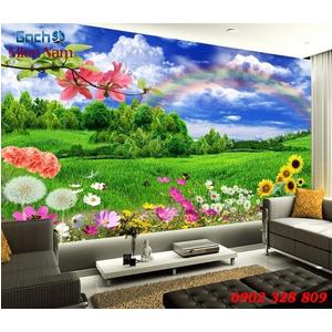 Tranh gạch 3d Hoa Hướng Dương HHD66