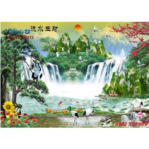 Tranh gạch 3d Hoa Hướng Dương HHD67
