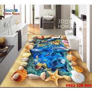 Tranh Gạch 3D Lát Nền Cá Heo SDD42