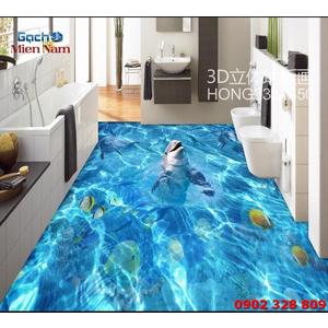 Tranh Gạch 3D Lát Nền Cá Heo SDD44