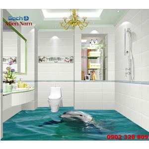 Tranh Gạch 3D Lát Nền Cá Heo SDD46