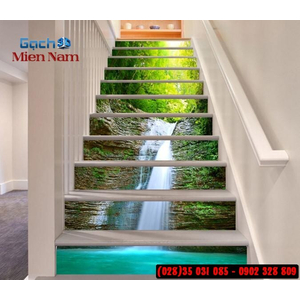 Tranh gạch 3d ốp bậc cầu thang BCT02