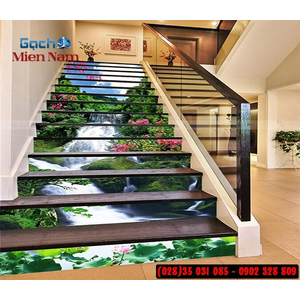 Tranh gạch 3d ốp bậc cầu thang BCT113