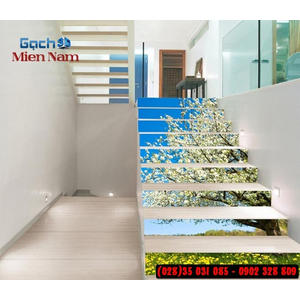 Tranh gạch 3d ốp bậc cầu thang BCT89