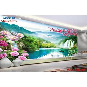 Tranh gạch 3d phòng khách STM220