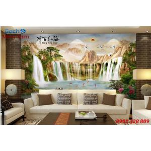 Tranh gạch 3d phòng khách STM226