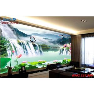 Tranh gạch 3d phòng khách STM233