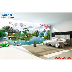 Tranh gạch 3d phòng khách STM234