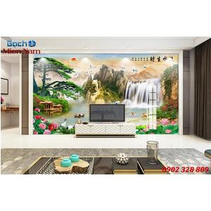 Tranh gạch 3d phòng khách STM239
