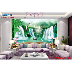 Tranh gạch 3d phòng khách STM240