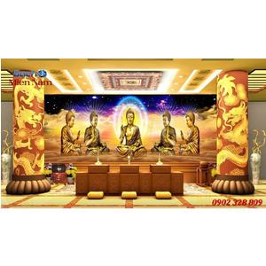 Tranh gạch 3d phòng thờ HPM102
