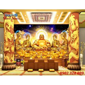 Tranh gạch 3d phòng thờ HPM136