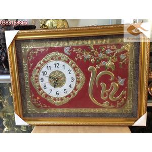 Tranh mặt đồng hồ chữ lộc,tranh mừng tân gia,khai trương cửa hàng