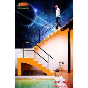Tranh ốp tường 3D cầu thang CT194
