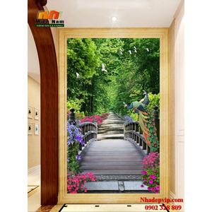 Tranh ốp tường chiếu nghỉ cầu thang CNT75