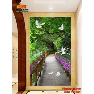 Tranh ốp tường chiếu nghỉ cầu thang CNT81