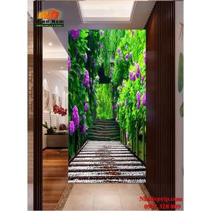 Tranh ốp tường chiếu nghỉ cầu thang CNT82