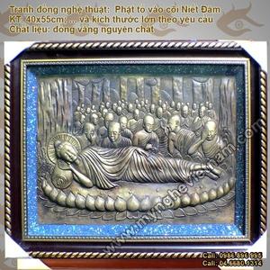 Tranh Phật Thích Ca Mâu Ni Nhập Niết Bàn